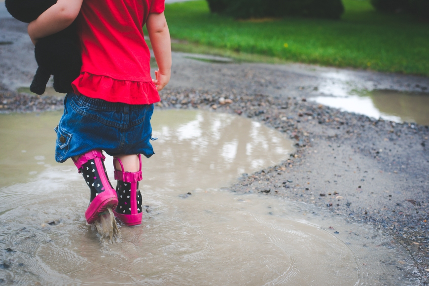 More puddles.