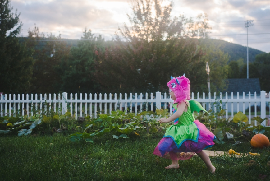 This was not a set up image. This was her chasing her brother who was pretending to be a knight, slaying a dragon.