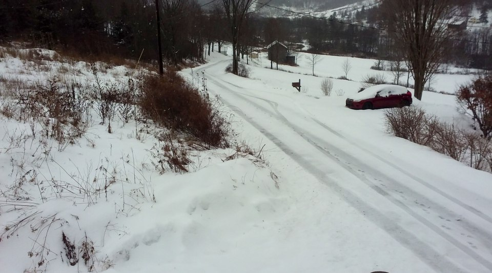 Photo and caption Ronnie Robinson |The view of the road from the old Corson home going past our home.
